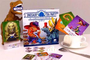Dinosaur Tea Party: dinosaurs, teacup, board game
