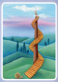 Dixit Card Winding Staircase