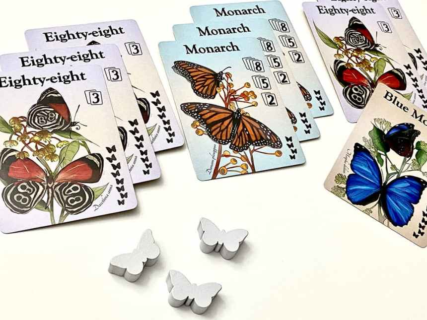 Fluttering Souls Two Player Card Game - winning player