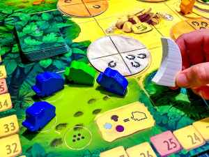Mammoth field with 3 blue mammoths and 1 green.