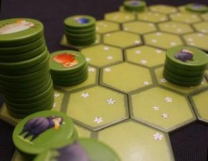 Stacks of Battle Sheep tokens