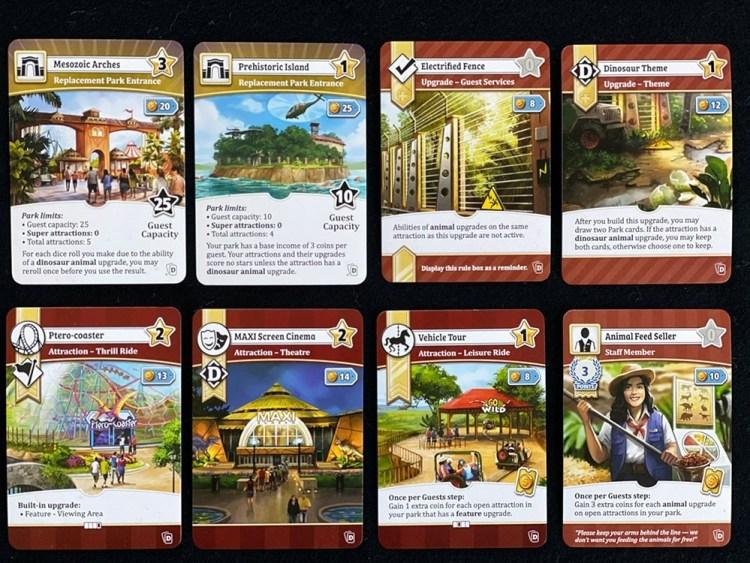 Unfair Dinosaur Park Cards