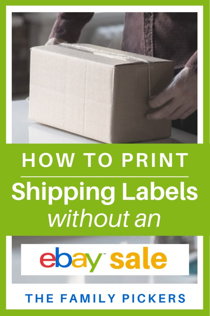How to Print Shipping Label for eBay Without a Sale - The