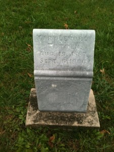 The grave of Mary Lenore Totten who died just two years before her father killed her mother and himself.  She was just 13 years old.