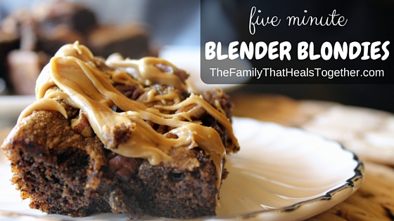 Five Minute Blender Blondies- flourless, paleo, gluten-free, and grain-free - The Family That Heals Together