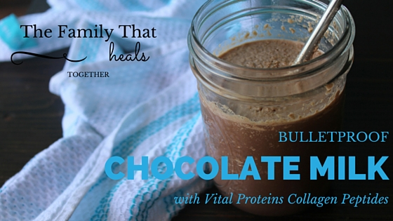Move over bulletproof coffee, Bulletproof Chocolate Milk is where it's at! This recipe with good fats and high protein content uses Vital Proteins collagen peptides for a satisfying and kid-friendly morning beverage or afternoon snack!