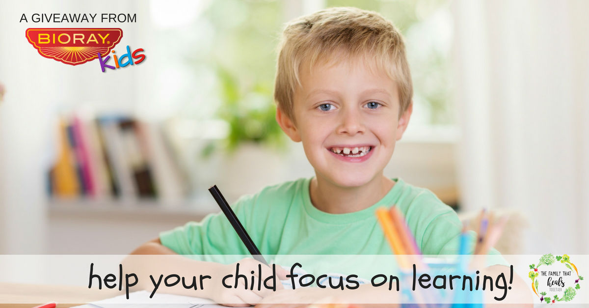 Want to Help Your Child Focus On Learning? Try This! + a Giveaway from BioRay Kids | The Family That Heals Together