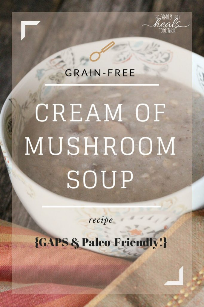 Cream of Mushroom Soup Recipe for GAPS & Paleo Diets | The Family That Heals Together