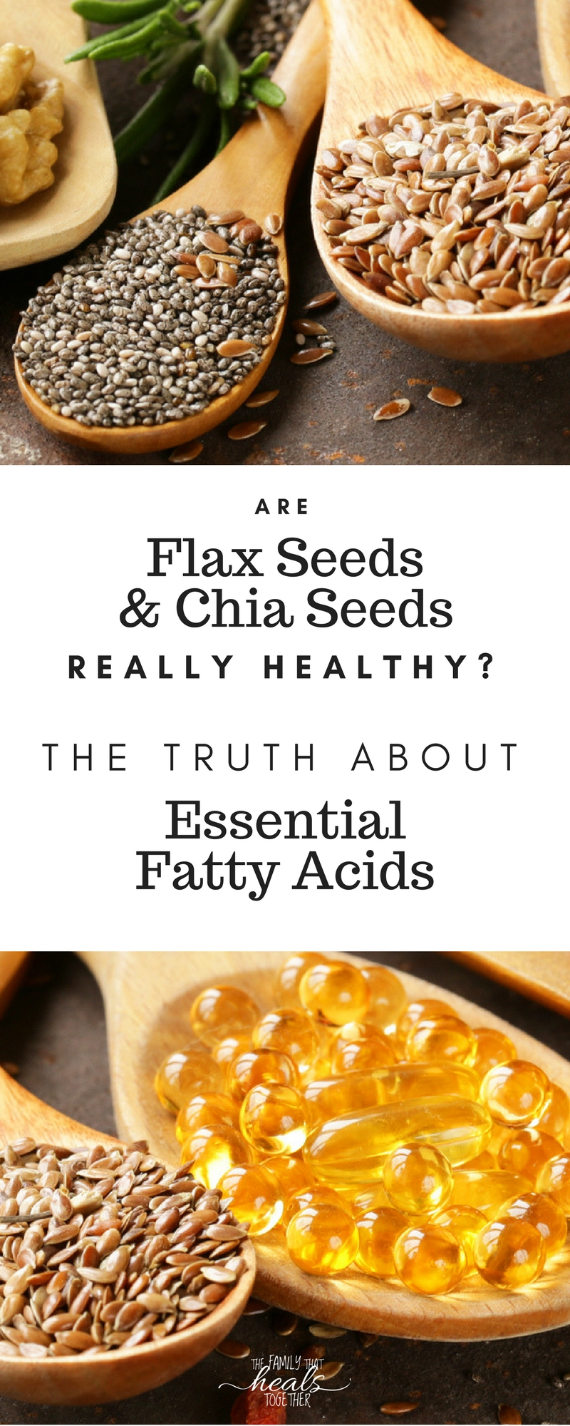 Chia seeds and flax seeds are part of a healthy diet, but are they a good source of essential fatty acids? You may be surprised by the answer! Learn the truth from The Family That Heals Together.