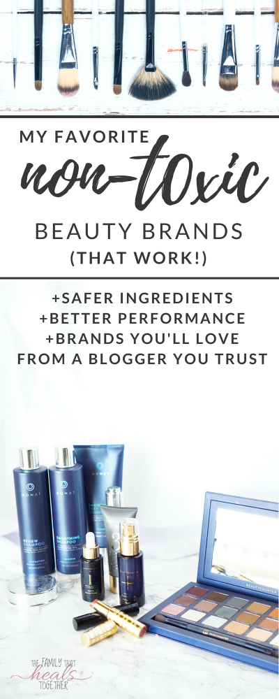 Are you on the hunt for safe cosmetics and natural brands that you love? We're sharing our faves that are both SAFER and EFFECTIVE! Read about these non-toxic brands from The Family That Heals Together.