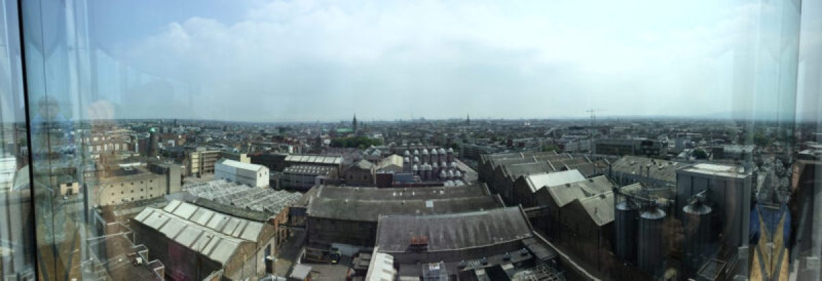 Dublin panorama from Guinness Storehouse