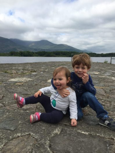 Kids playing outside in Killarney Ireland