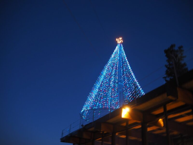 Palm Springs Aerial Tram at Christmas