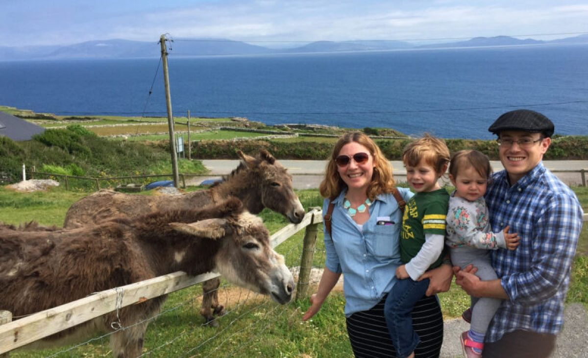 Slea Head Drive with kids