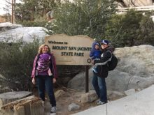 Palm Springs Aerial Tramway with kids