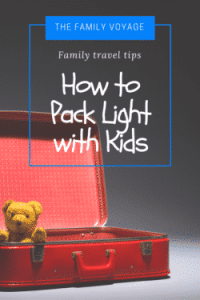 packing light with kids, packing light with babies