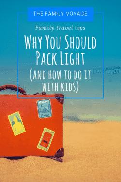 how to pack light with kids, how to pack light with babies