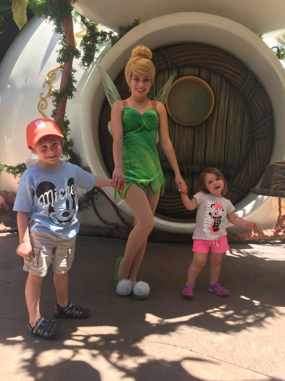 Meeting Tinkerbell was our best character experience at Disneyland