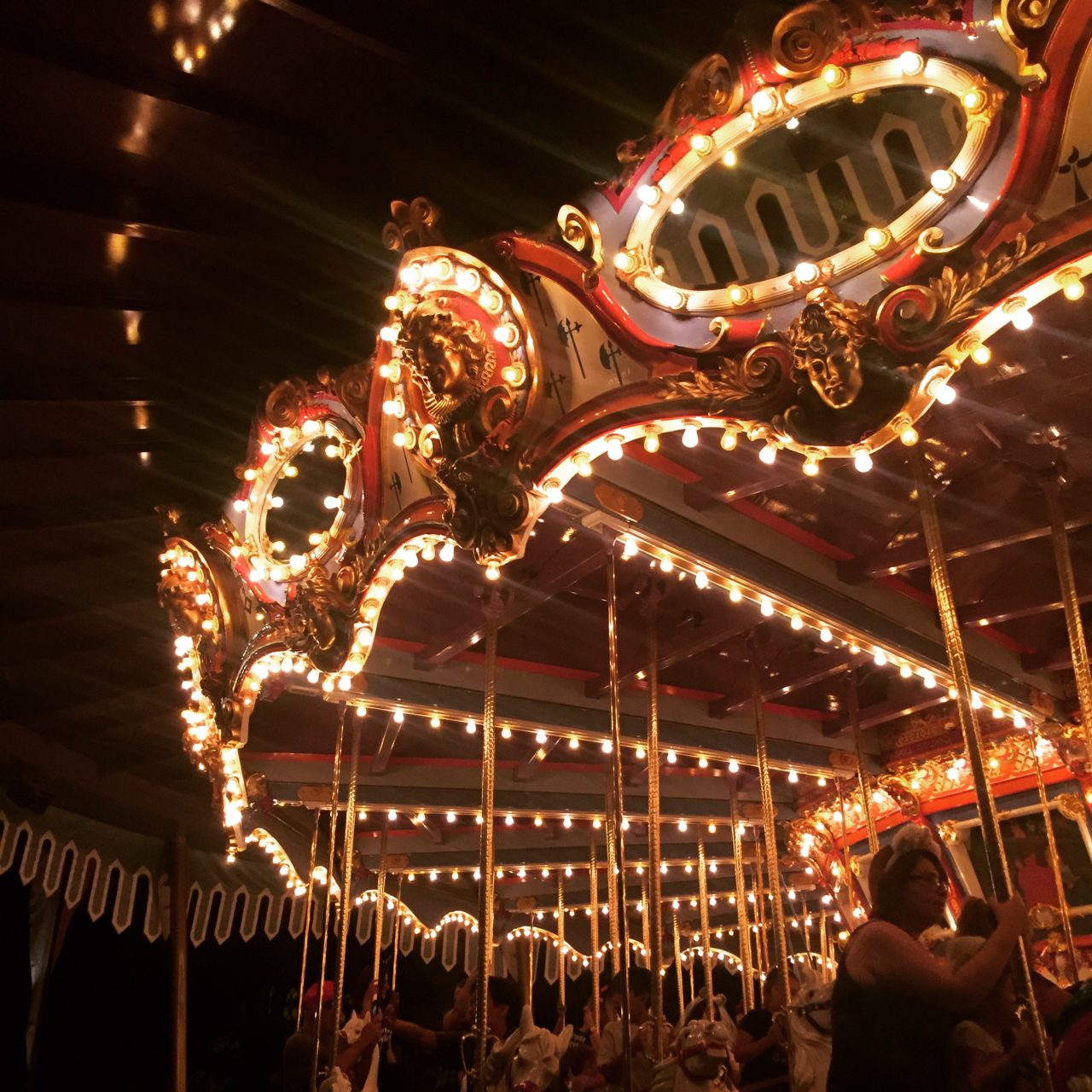 King Arthur's Carousel at night