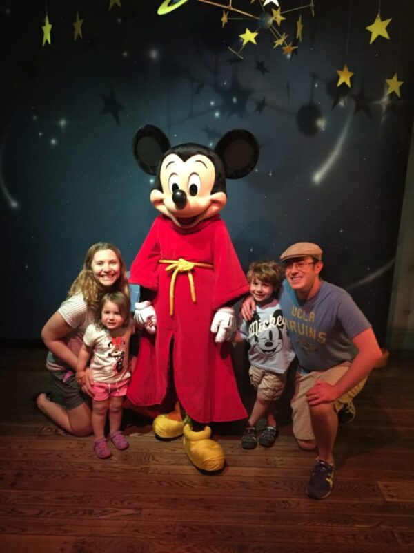 Meeting Mickey Mouse at Disneyland