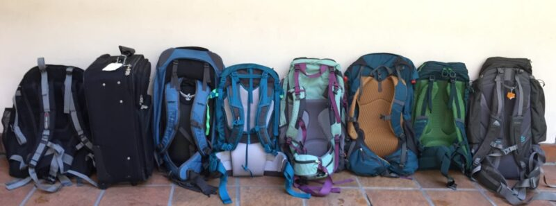 comparison of travel packs for women harness view
