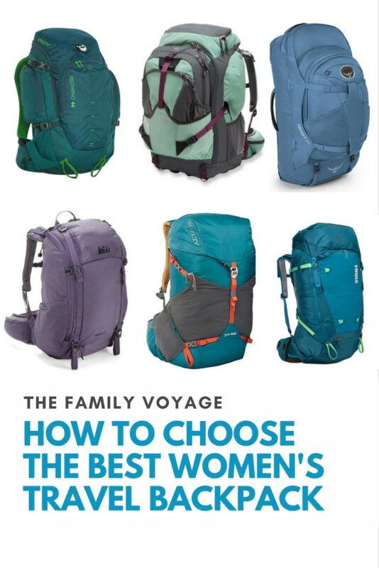 How to Choose the Best Women's Backpack for Travel - The Family Voyage