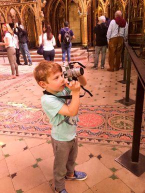 Saint Chapelle with kids
