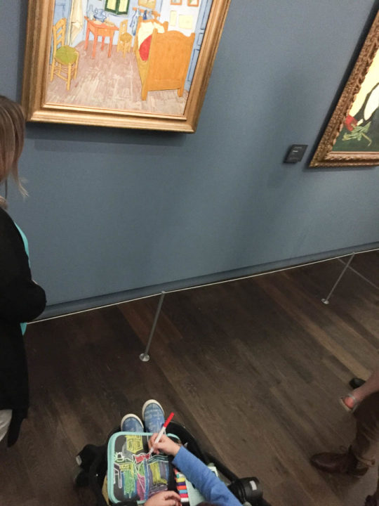 Musee d'Orsey with kids