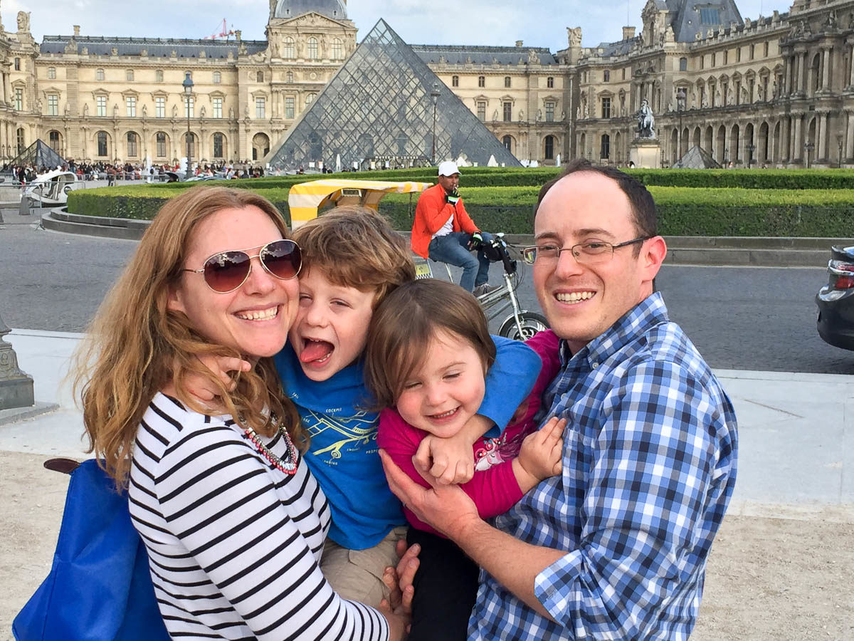 Louvre with kids