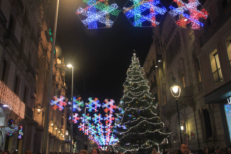 Christmas lights in Spain