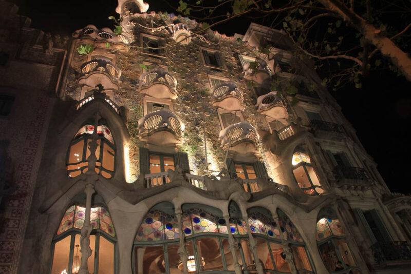 Seville Casa Batllo at night