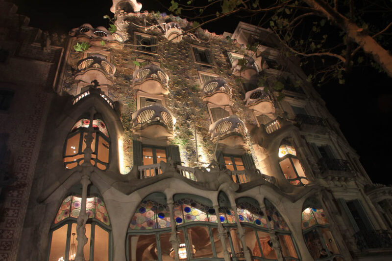 Seville Casa Batllo at night