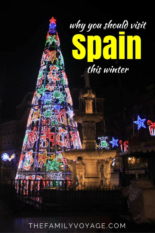 Click to learn why you should visit Spain in winter! Get details on things to do in Barcelona in winter, things to do in Seville in winter, things to do in Valencia in winter. We cover holiday traditions in Spain and Christmas lights in Spain. Read about things to do in Spain, where to eat in Spain and tips for Spain with a baby or tackling Spain with toddler.