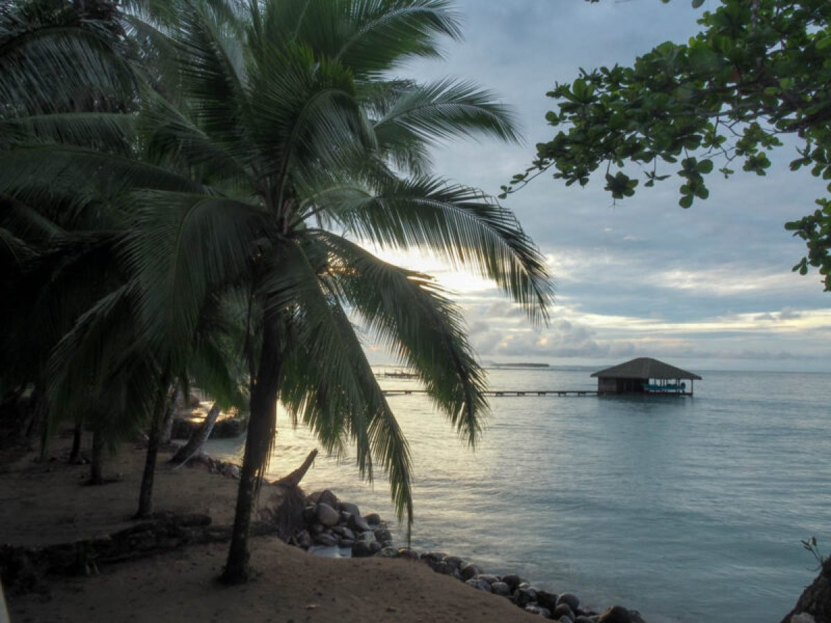 Sunrise from our Bocas del Toro accommodation at La Residencia