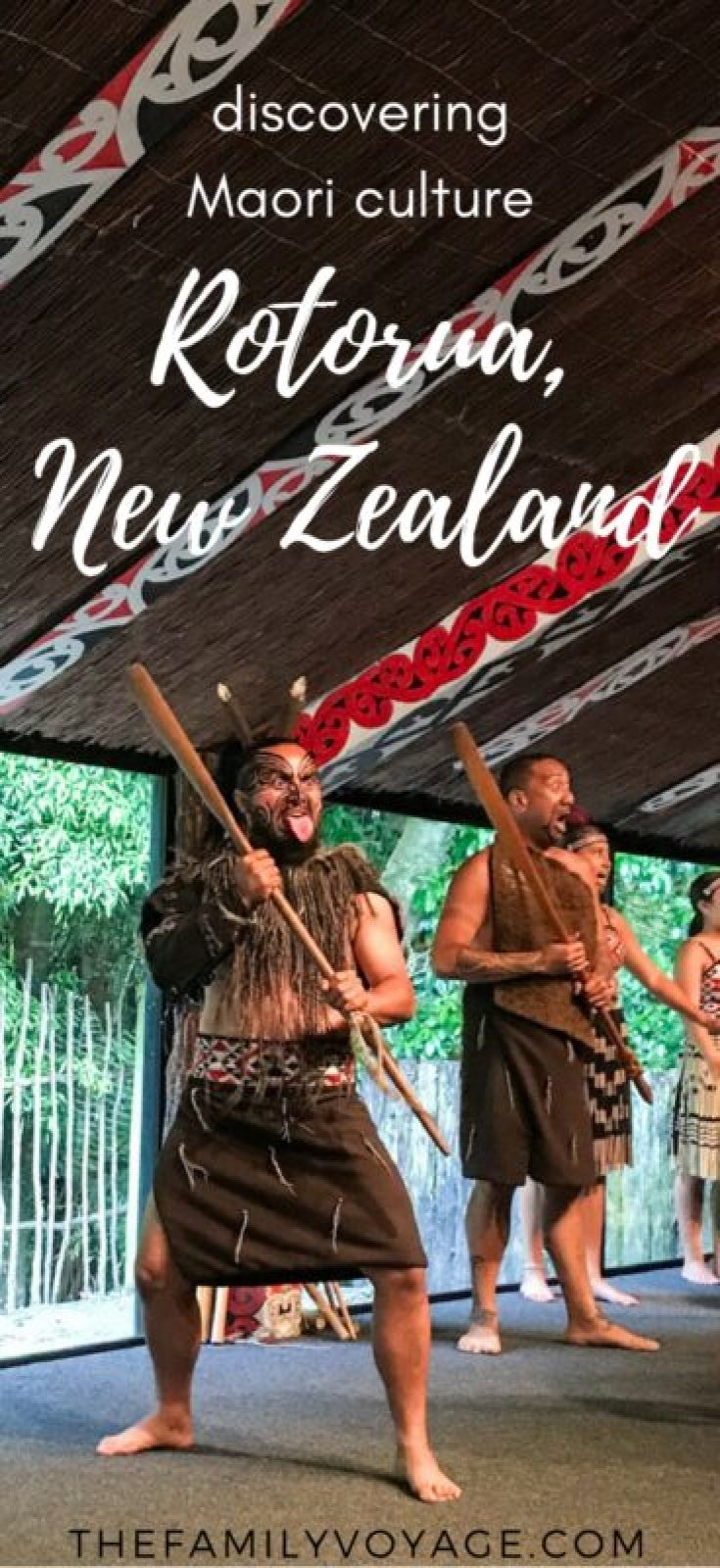 Have you ever wondered how to perform the traditional Maori haka? Or why Maori have face tattoos? Come to Tamaki Maori Village in Rotorua, New Zealand to experience Maori culture first-hand. It's one of the best things to do in New Zealand and truly a unique experience. Click to find out why it should be at the top of your North Island itinerary. #NewZealand #travelplanning #familytravel #maori