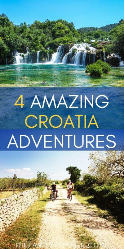 Did you know that there are so many ways to explore Croatia outdoors? Read on to find out about hiking in Croatia, biking in Croatia and more. You'll visit waterfalls at Krka National Park and Plitvice Lakes National Parks. Croatia adventure holidays are some of the top things to do in Croatia! #Croatia #Dubrovnik #Split #Plitvice #travel #outdoors #familytravel