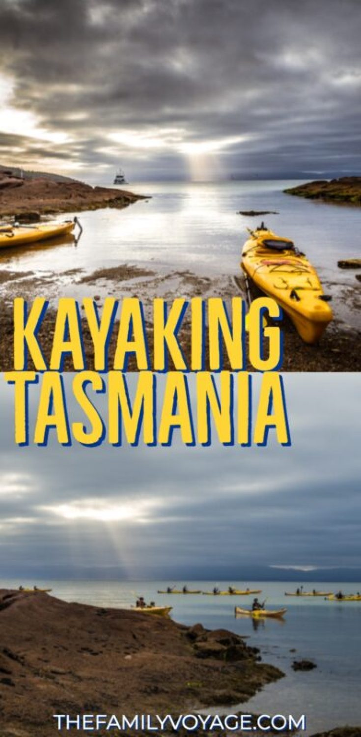 Are you looking for things to do in Tasmania? If you're visiting the east coast of this spectacular Australia island, don't miss stunning Coles Bay - and why not see it by kayak! #Tasmania #Australia #travel #family #kayak