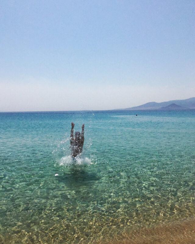 Agios Prokopios beach on Naxos, Greece #Naxos #Greece #beach #turquoisewater
