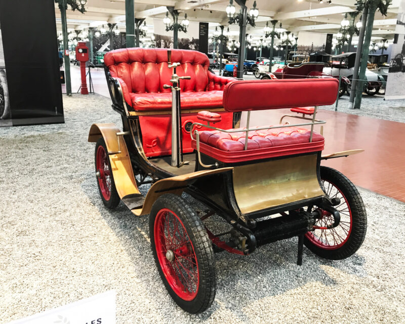 Antique car at Cite de l'Automobile in Mulhouse, France #France #Alsace #travel #car #vintagecar