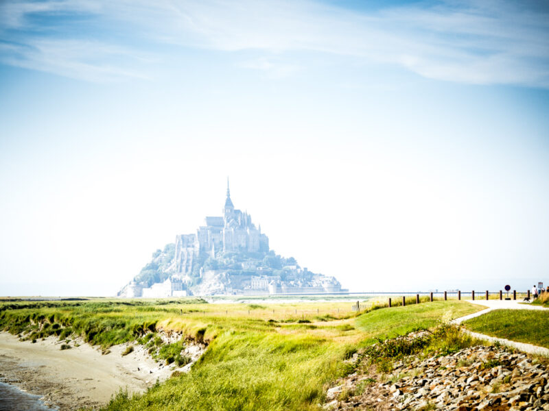 Stunning Mont St Michel rising out of the mist in Normandy, France. #Normandy #Brittany #France #travel #travelphoto