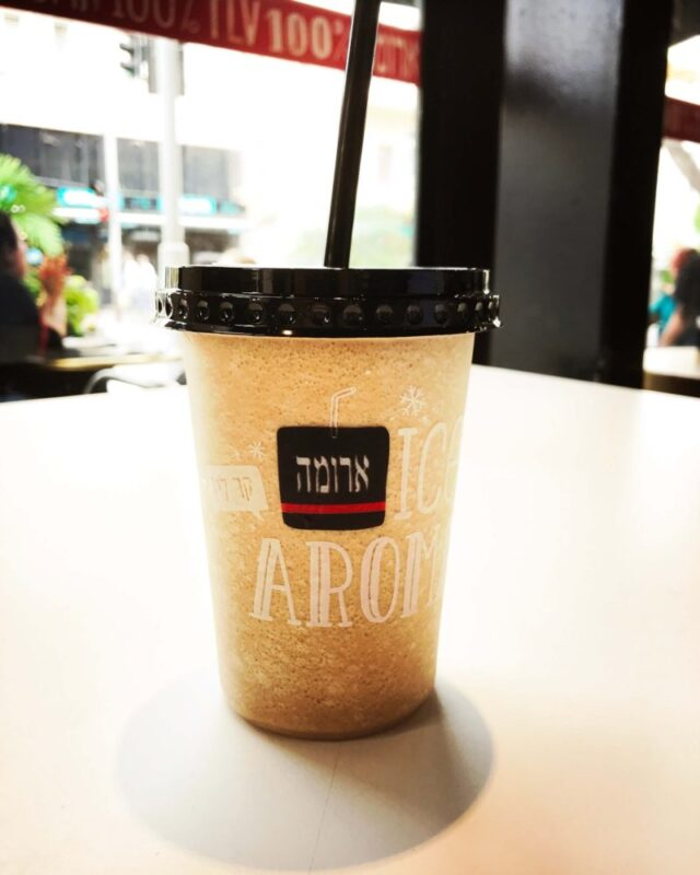Iced coffee from Aroma Cafe in Israel #Israel #TelAviv #coffee #icedcoffee