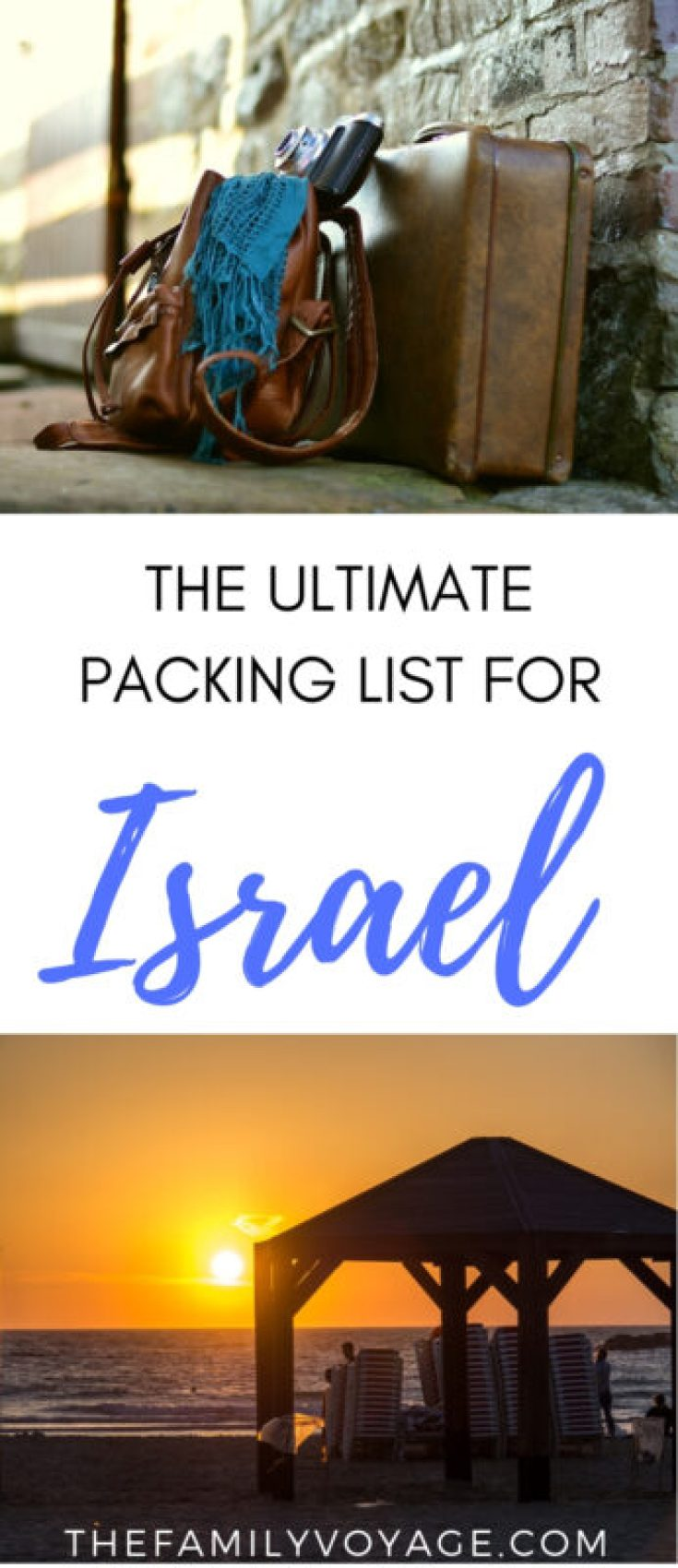 Wondering what to pack for Israel? We've got your Israel packing list for every season, along with weather, Jerusalem dress code issues and more. CLICK to read now and PIN IT for later! #Israel #Jerusalem #TelAviv #packing #packinglist #capsulewardrobe #femaletravel #travel #winter #spring #summer #fall