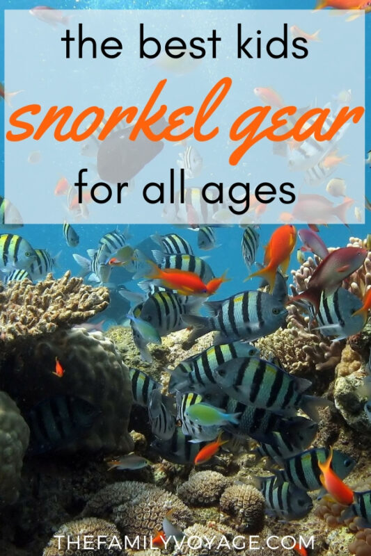 Searching for a kids snorkel set? We've got you covered with the best kids snorkel gear for all ages! #kids #familytravel #snorkeling #familyadventure #watersports