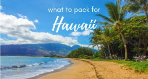 Are you wondering what to pack for Hawaii? The good news is you won't need much on your Hawaii packing list! Check out these essentials to keep you cool and comfortable on your Hawaii vacation *without* packing your whole closet. #Hawaii #packing #packinglist #carryon