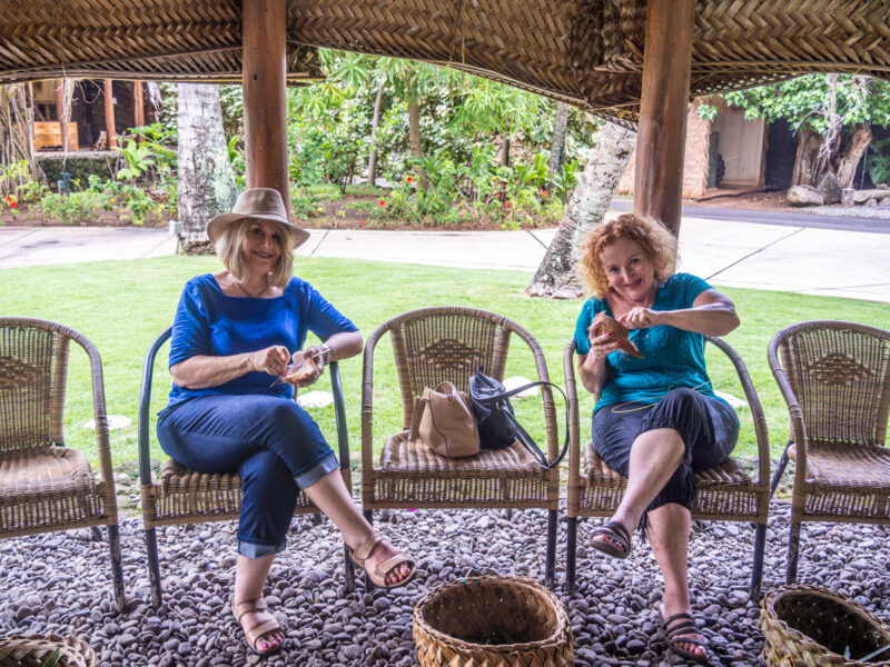 coconut snack at PCC on Oahu