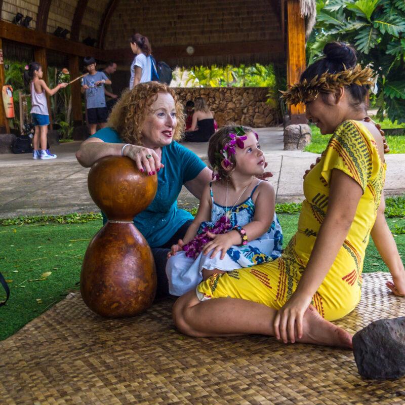 Sharing the aloha spirit at Polynesian Cultural Center on Oahu