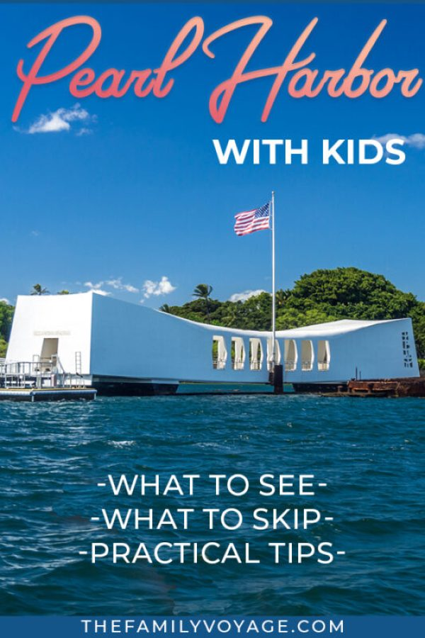 Visiting Pearl Harbor is one of the top things to do on Oahu... but what about seeing Pearl Harbor with kids? We're giving you the inside scoop on this popular Hawaii tourist attraction including the USS Arizona Memorial, Pearl Harbor Visitors Center, Pearl Harbor Aviation Museum, USS Bowfin submarine, battleship USS Missouri (Mighty Mo) and more. CLICK to read, PIN to save for later! #Hawaii #Oahu #travel