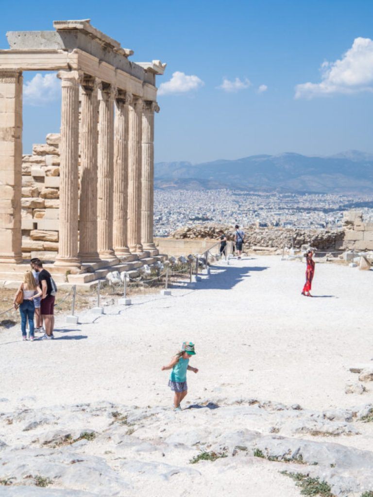 At the Acropolis - top things to do in Athens with kids