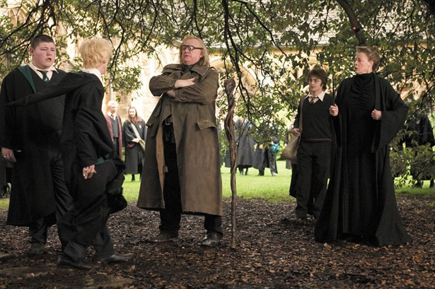 Brendan Gleeson,Daniel Radcliffe,Maggie Smith,Tom Felton