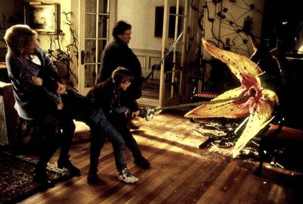 Bonnie Hunt,Bradley Pierce,Kirsten Dunst,Robin Williams